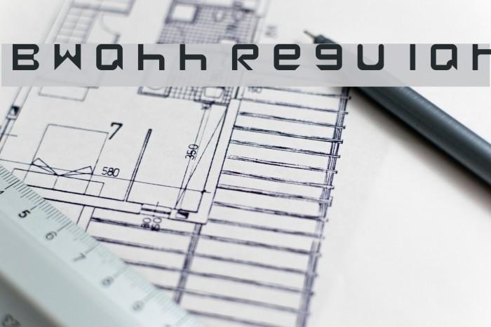 Bwahh Regular Font examples
