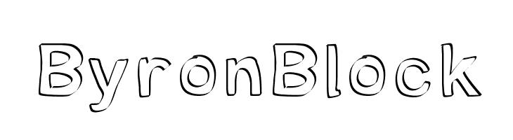 ByronBlock  Скачать бесплатные шрифты