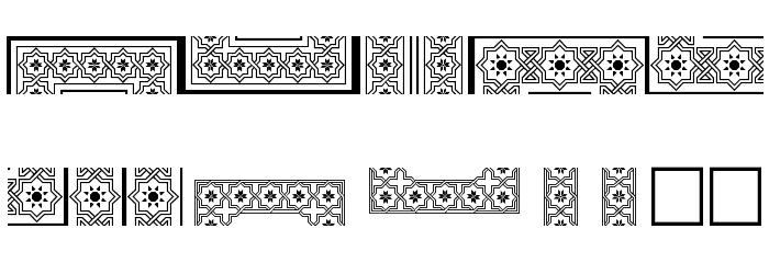 Byzantium Шрифта ВЕРХНИЙ