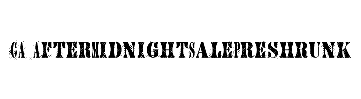 CA AfterMidnightSalePreshrunk  Free Fonts Download