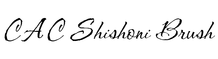 CAC Shishoni Brush  Free Fonts Download