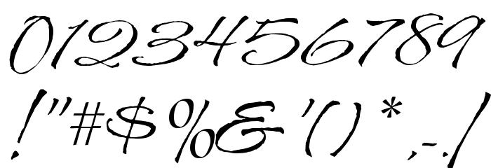 CAC Shishoni Brush Шрифта ДРУГИЕ символов