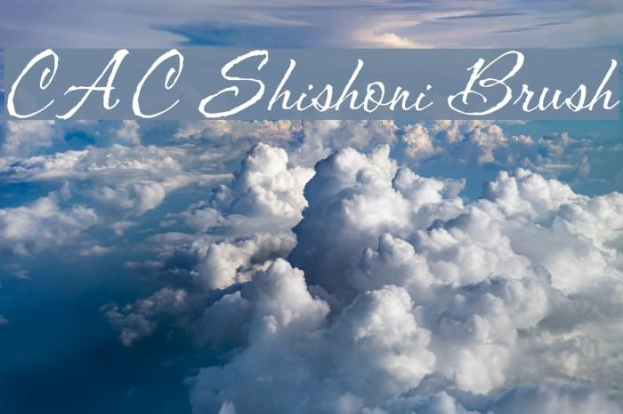 CAC Shishoni Brush Font examples