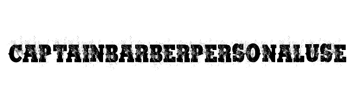 CAPTAIN BARBER PERSONAL USE  Free Fonts Download
