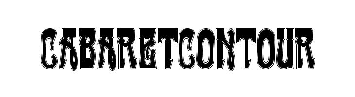 CabaretContour  Скачать бесплатные шрифты