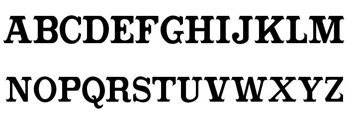 CabbagetownBook Font UPPERCASE