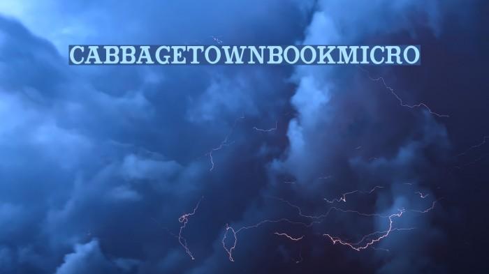 CabbagetownBookMicro Fuentes examples