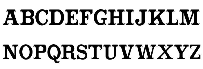 CabbagetownBookStd Font Litere mari