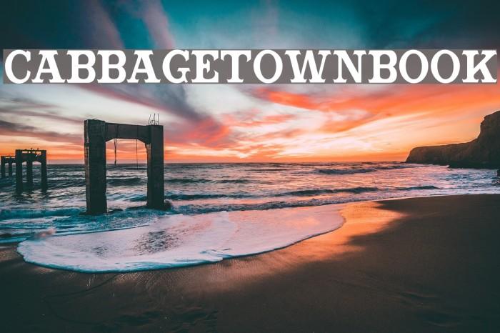 CabbagetownBook Font examples