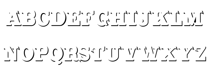 CabbagetownStone Font Litere mari