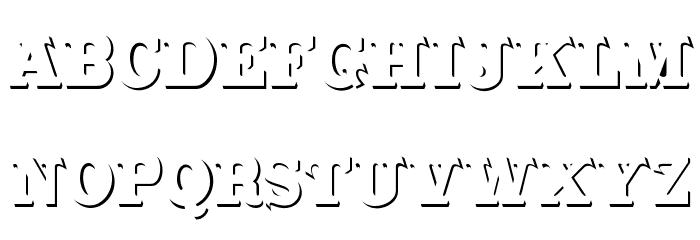 CabbagetownStoneStd Font Litere mari