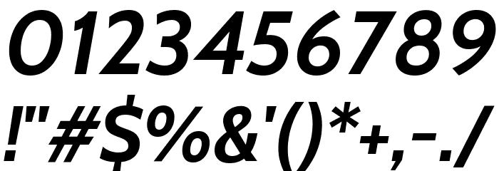 Cabin Bold Italic Font OTHER CHARS