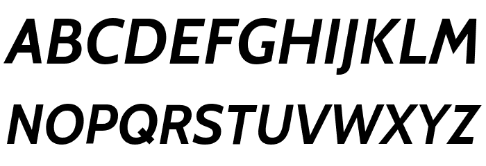 Cabin Bold Italic Font UPPERCASE