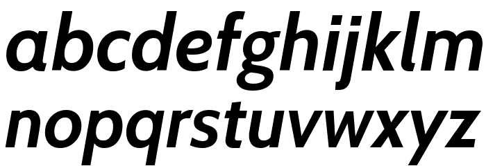 Cabin Bold Italic Font LOWERCASE