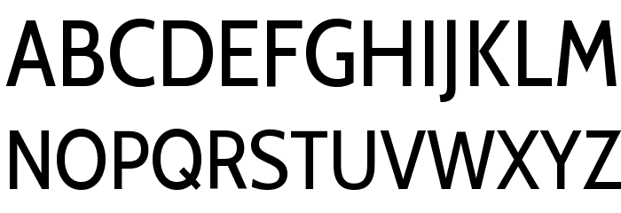 Cabin Condensed Regular Font UPPERCASE