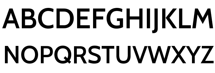 Cabin SemiBold Font UPPERCASE