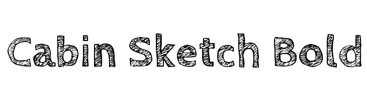 Cabin Sketch Bold  Скачать бесплатные шрифты