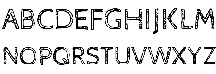 Cabin Sketch Regular फ़ॉन्ट अपरकेस