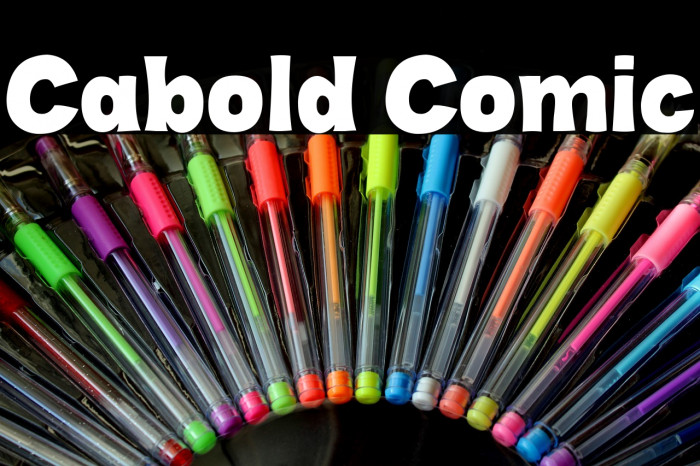 Cabold Comic Font examples