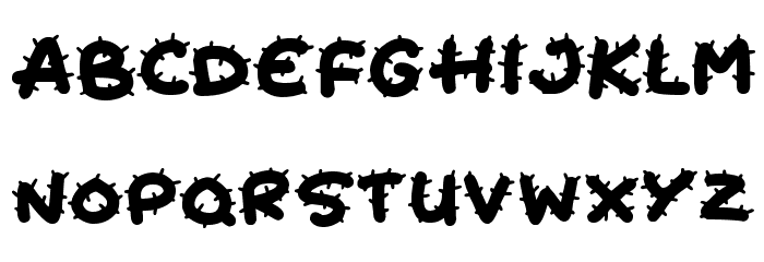 Cactus Cuties Schriftart Kleinbuchstaben