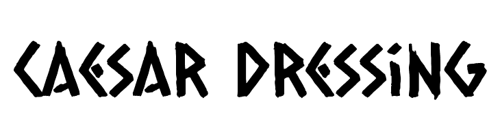 Caesar Dressing  Free Fonts Download