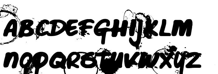 Caffeine Blackout Font UPPERCASE