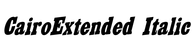 CairoExtended Italic  Free Fonts Download