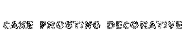 Cake Frosting Decorative  नि: शुल्क फ़ॉन्ट्स डाउनलोड