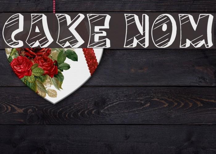 Cake Nom Font examples