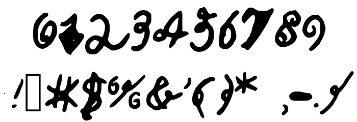 CalebsCoolHandwriting Fuentes OTROS CHARS