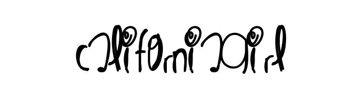 CaliforniaGirl  Free Fonts Download