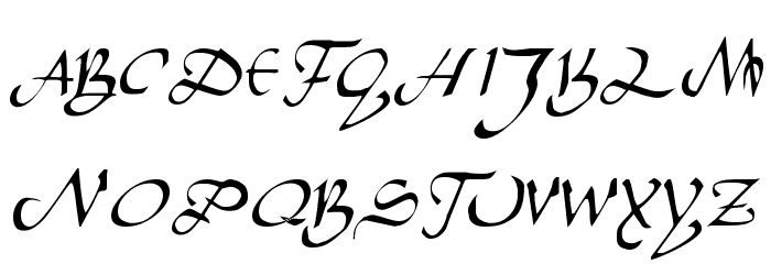 Caliph Regular Font UPPERCASE