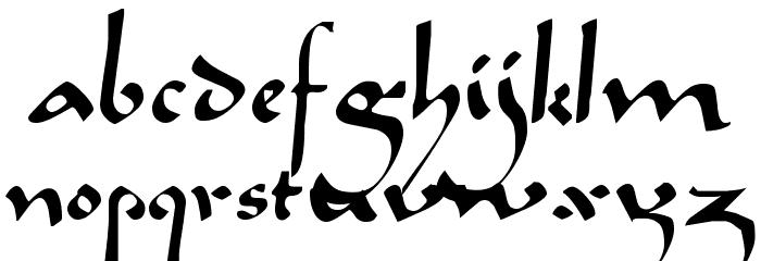 Caliph Regular Font LOWERCASE