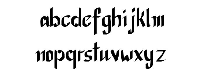 CalliBrush Font LOWERCASE