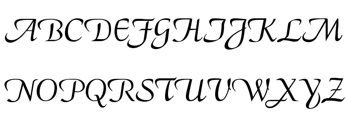 CalligraphyFLF Font UPPERCASE