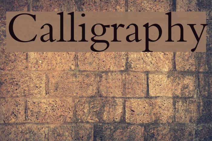 Calligraphy Fonte examples