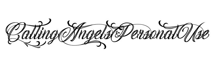 Calling Angels Personal Use  नि: शुल्क फ़ॉन्ट्स डाउनलोड