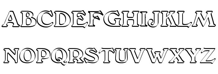 Callistroke Font UPPERCASE