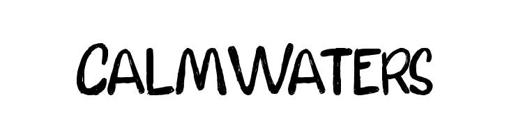 CalmWaters  フリーフォントのダウンロード
