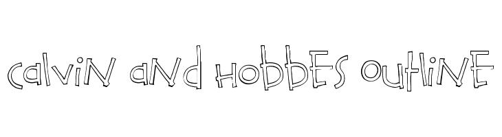 Calvin and Hobbes Outline  les polices de caractères gratuit télécharger