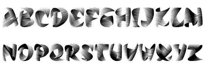 Calypso Font UPPERCASE