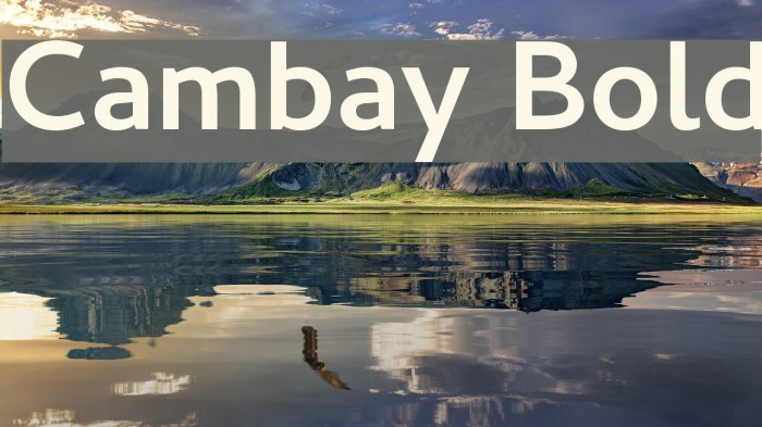 Cambay Bold Font examples