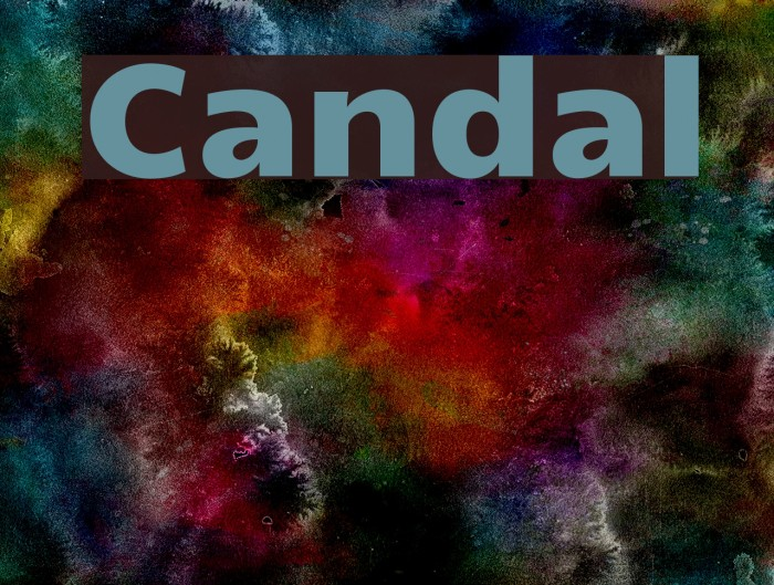 Candal Font examples