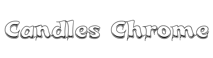 Candles Chrome  Free Fonts Download