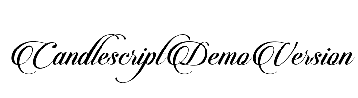 CandlescriptDemoVersion  Free Fonts Download
