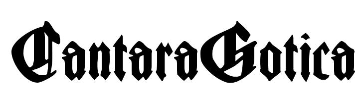 CantaraGotica  Free Fonts Download