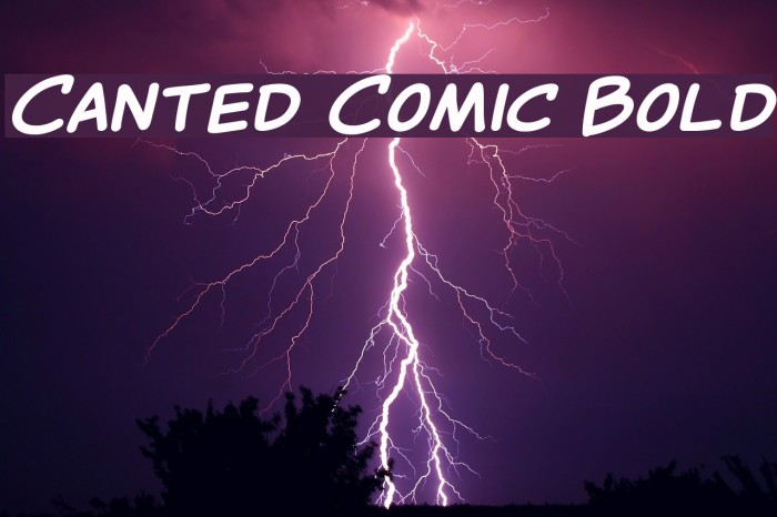 Canted Comic Bold Шрифта examples