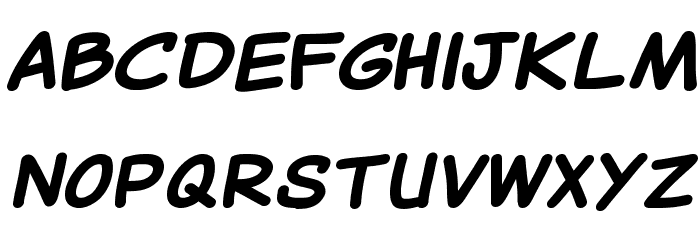 Canted Comic Bold Шрифта строчной