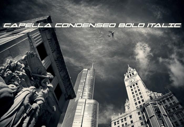 Capella Condensed Bold Italic Fonte examples