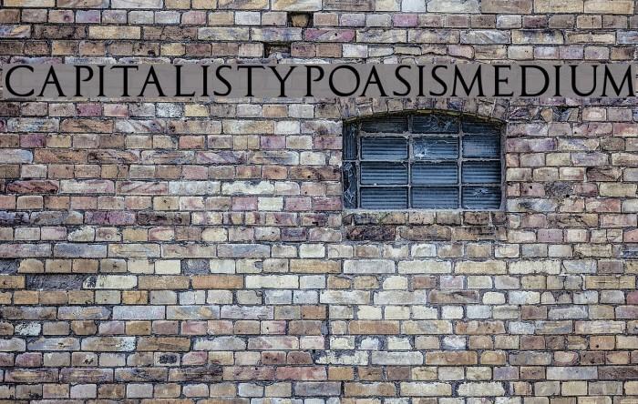 CapitalisTypOasisMedium Font examples